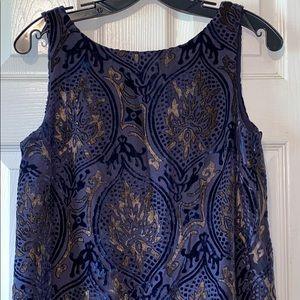 Ann Taylor Loft Velvet & Lace Fully Lined Dress S